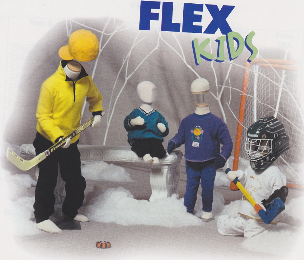 "Flexible Mannequins ""Flex Kids"" Child Forms"