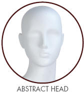 Evelyn Female Mannequin with Abstract Head in True White
