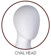 Evelyn Oval Head
