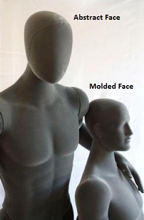 Flexible Mannequin Abstract Face and Molded Face