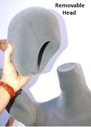 Flexible Mannequin Head Removes from Body