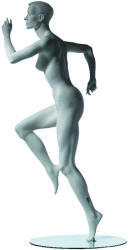 Female Runner Mannequin Pose 2 in Cameo White