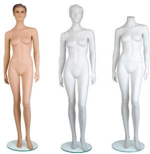 Maggie Female Mannequins offered in White and Fleshtone